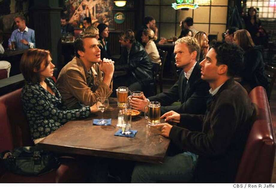 "caption: ""Purple Giraffe"" -- Alyson Hannigan, Jason Segel, Neil Patrick Harris and Josh Radnor from the new CBS series HOW I MET YOUR MOTHER. Photo: Ron P. Jaffe/ CBS  �2005 CBS BROADCASTING INC. All Rights Reserved.  Season 1 Production 1ALH  copyright: Ran on: 09-11-2005  UPN's &quo;Everybody Hates Chris,&quo; starring Tyler James Williams and based on Chris Rock's childhood, is one of the season's most talked-about new shows. Ran on: 09-11-2005  UPN's &quo;Everybody Hates Chris,&quo; starring Tyler James Williams and based on Chris Rock's childhood, is one of the season's most talked-about new shows. Ran on: 01-07-2006  John Stamos stars as Jake, and Wendy Malick (right) plays his boss, Naomi, in &quo;Jake in Progress,&quo; which ABC has retooled.  Ran on: 12-07-2007  Fans of &quo;How I Met Your Mother'' can buy clothing and props from the TV show. Photo: RON P. JAFFE"