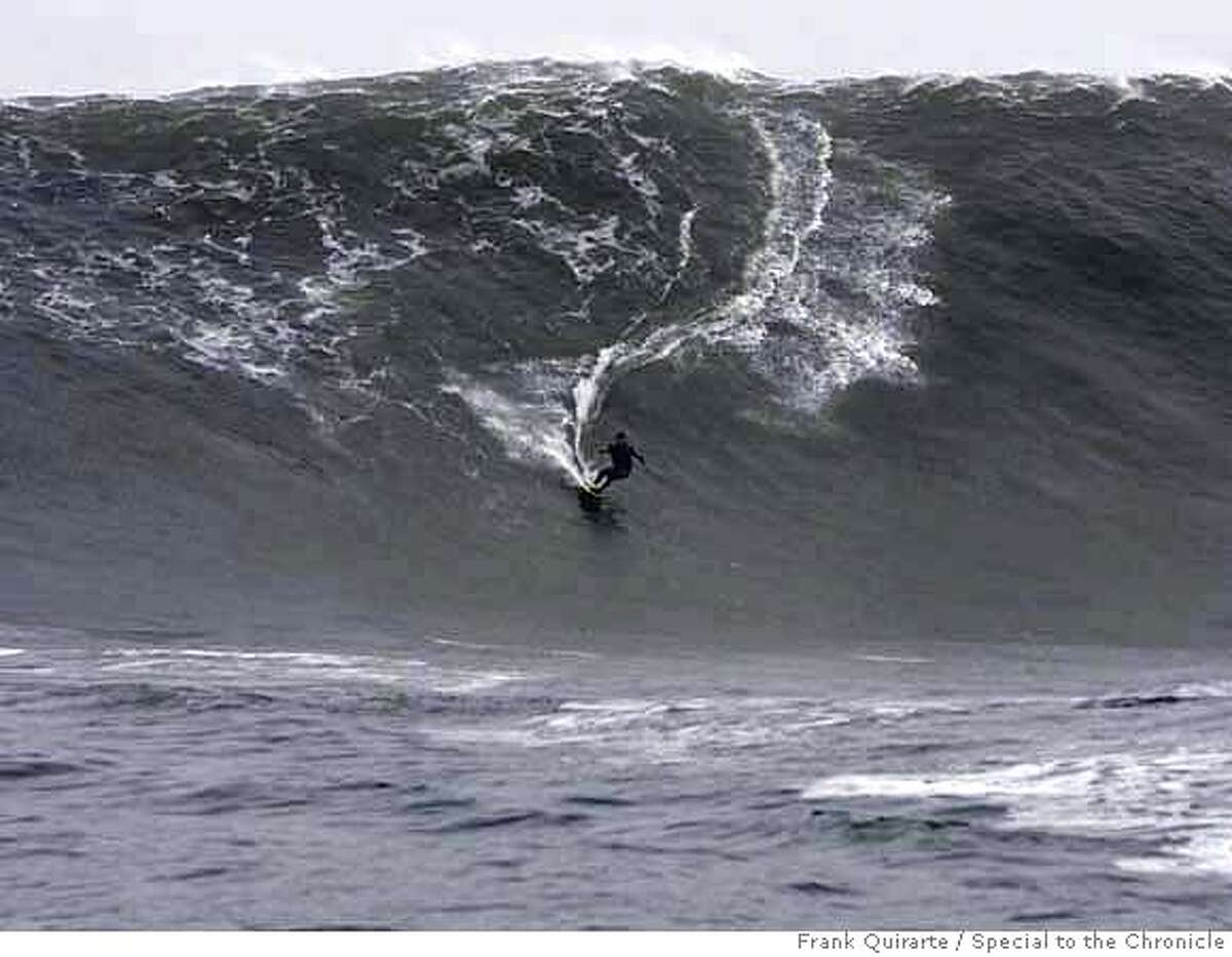 First of four. Sequence of pictures showing Darryl Virostko, the big-wave surfer known as Flea, wiping out on a wave at Maverick's on December 4, 2007. The famous surf spot saw some of the biggest waves ever on December 4, 2007. Frank Quirarte / Special to The Chronicle