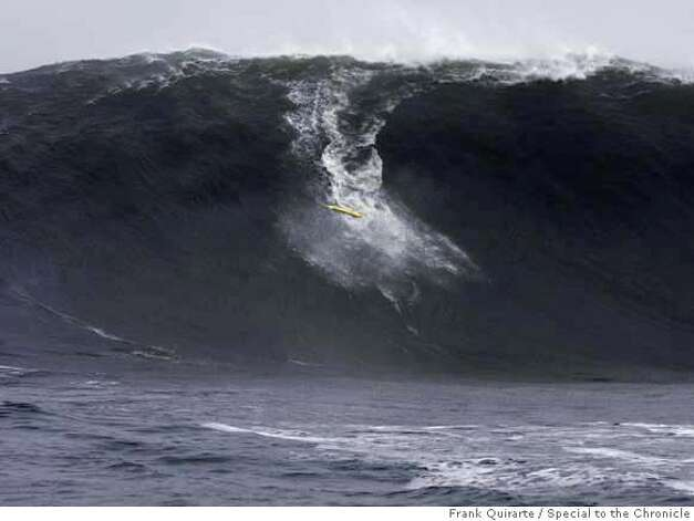 Second of four.  Sequence of pictures showing Darryl Virostko, the big-wave surfer known as Flea, wiping out on a wave at Maverick's on December 4, 2007. The famous surf spot saw some of the biggest waves ever on December 4, 2007. Frank Quirarte / Special to The Chronicle Photo: Frank Quirarte