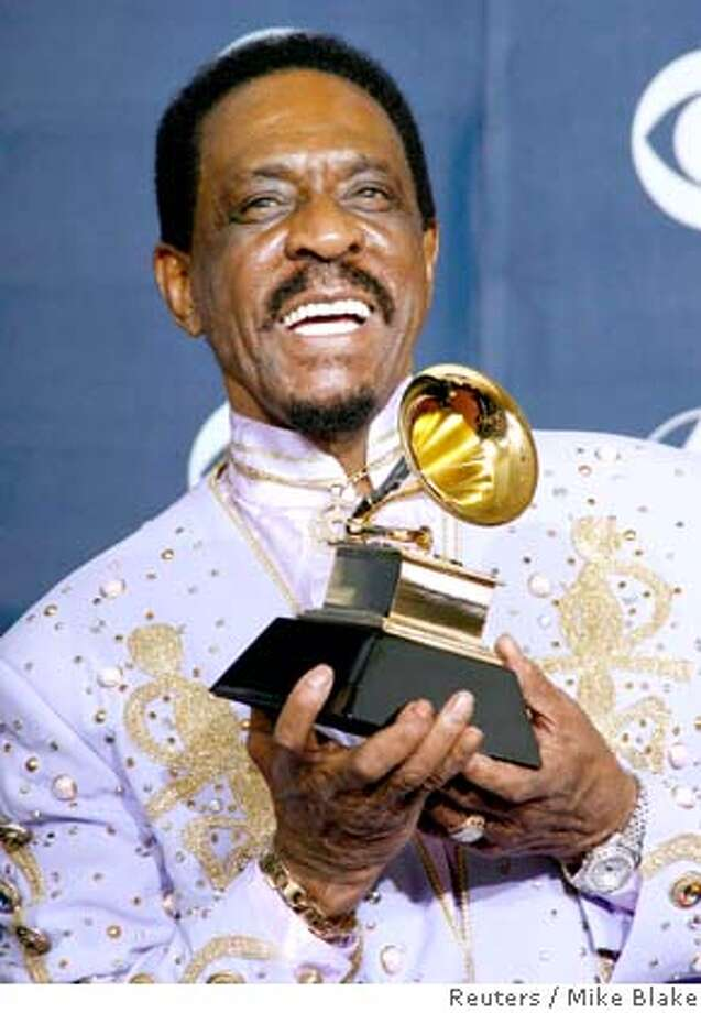 Ike poses with his Grammy for Best Traditional Blues Album for 'Risin With the Blues' at the 49th Annual Grammy Awards in Los Angeles in this February 11, 2007 file photo. Rock 'n' roll pioneer Turner, who rose to fame in the 1950s and became a star performing with his ex-wife Tina Turner, has died at age 76, according to published reports on December 12, 2007. REUTERS/Mike Blake (UNITED STATES) Photo: MIKE BLAKE