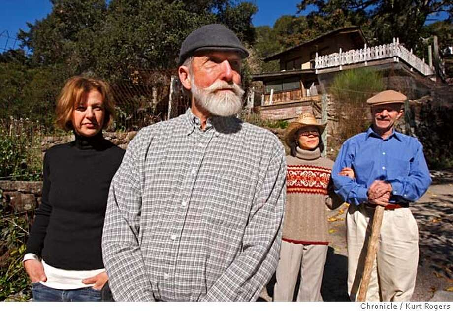 L2R Gina Leibercht (cq) Les Blank Bee Ratchanee Chaikamnung (cq) the wife of David Hoffman (cq) at their home in Lagunitas where All in this Tea was filmed.  David Hoffman a tea importer Lel Blank and Gina Leibrecht have done a movie about him.  TEAGUY_0045_KR.jpg  Kurt Rogers / The Chronicle Photo taken on 11/30/07, in Lagunitas , CA, USA MANDATORY CREDIT FOR PHOTOG AND SAN FRANCISCO CHRONICLE/NO SALES-MAGS OUT Photo: Kurt Rogers