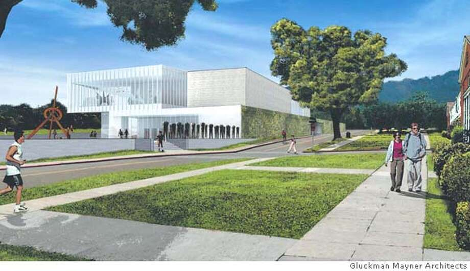 The conceptual design for the contemporary art museum proposed by Don and Doris Fisher for the Main Post's bowling alley site. Illustration courtesy of Gluckman Mayner Architects