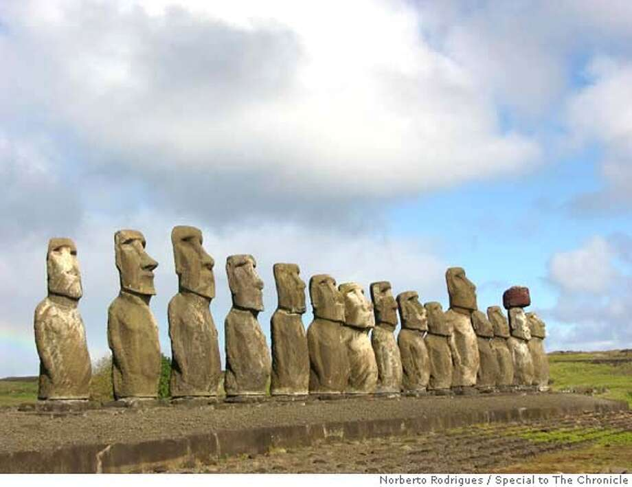 The Tongariki Ahu, with its 15 imposing moai statues, is the island's largest and best-preserved altar. Norberto Rodrigues / Special to The Chronicle Photo: Norberto Rodrigues