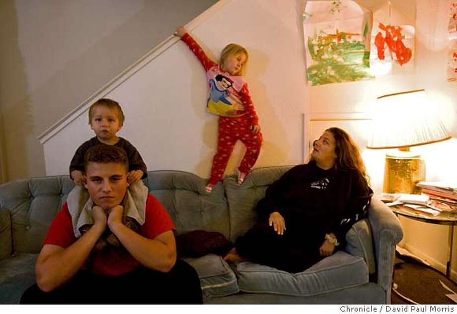 NAPA, CA - NOV 20: Deanna Moore, 36 and her children Grayson 15, Ronnie 5, and Alekzander 2 at home on November 20, 2007 in Napa, California. (Photo by David Paul Morris / The Chronicle) Photo: David Paul Morris