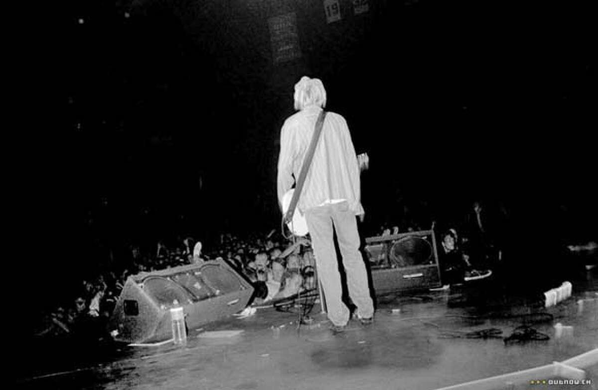 Kurt Cobain in KURT COBAIN: ABOUT A SON Ran on: 11-11-2007 Kurt Cobain: About a Son is a documentary about the tragic lead singer of the Seattle band Nirvana.