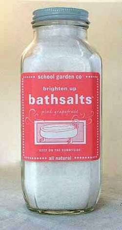 pink bath salts from School Garden Co. in Petaluma. Photo: Handout