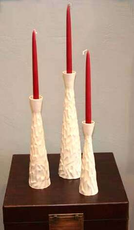 Simon Moore candlesticks, $94.50 to $135 at Good Sage, San Carlos Photo: Lrt