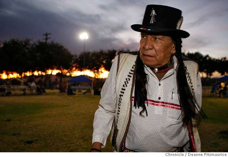 nevada_210_df.jpg  Saginaw Grant, a Native American who wants to keep the tradition and culture alive, attends a pow wow. The west will have a voice in the presidential election now that the Nevada caucus has been moved up to January as the second state in the presidential election process. Photographed in Pahrump on 11/16/07. Deanne Fitzmaurice / The Chronicle Mandatory credit for photographer and San Francisco Chronicle. No Sales/Magazines out. Photo: Deanne Fitzmaurice
