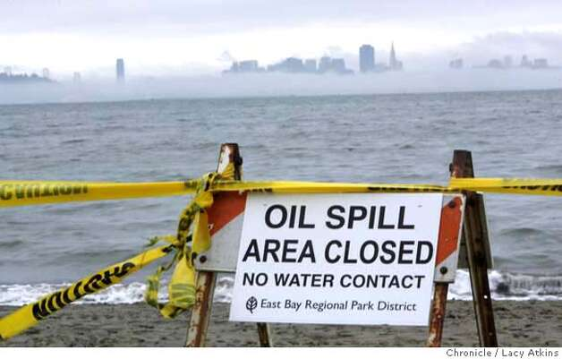 Some of the beaches in the East Bay are still closed due to the oily debris in the water and on the shore, Sunday Nov. 18, 2007, off the Albany Waterfront, in Abany, CA.Photographer: Lacy Atkins /San Francisco Chronicle  Photo taken on 11/18/07, in ALBANY, CA, USA MANDATORY CREDIT FOR PHOTOG AND SAN FRANCISCO CHRONICLE/NO SALES-MAGS OUT Photo: Lacy Atkins