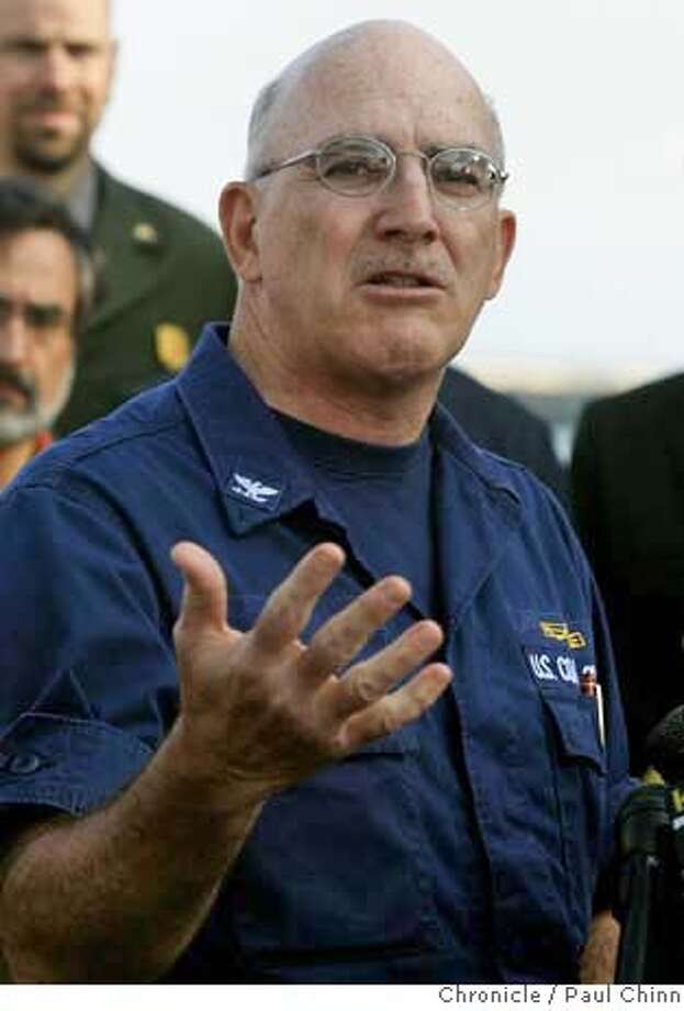 Coast Guard Capt. William Uberti updates the media on the progress of clean-up efforts on the Cosco Busan oil spill at a press conference in San Francisco, Calif. on Thursday, Nov. 8, 2007. According to news reports, Uberti has been relieved of his command over the spill incident and replaced by another Coast Guard captain.  PAUL CHINN/The Chronicle  **William Uberti MANDATORY CREDIT FOR PHOTOGRAPHER AND S.F. CHRONICLE/NO SALES - MAGS OUT Photo: PAUL CHINN