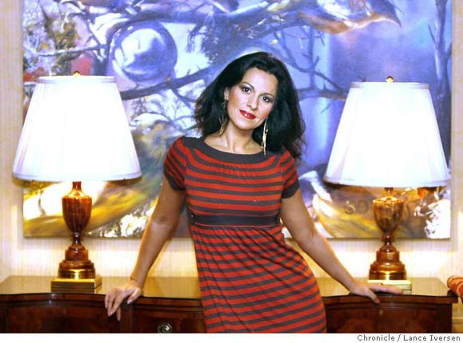 ANGELA_80625.JPG  Soprano Angela Gheorghiu, currently on world tour and making her San Francisco Opera debut is considered my many to be an old-style diva in the warmest scene. Lance Iversen/The Chronicle (cq) Gheorghiu ASSIGNMENT11/09/07,in SAN FRANCISCO. CA. Photo: Lance Iversen