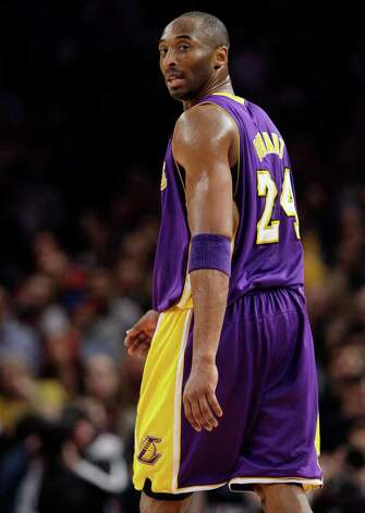 Los Angeles Lakers' Kobe Bryant (24) reacts after a call during the second half of an NBA basketball game against the New York Knicks Friday, Feb. 10, 2012, in New York. The Lakers lost the game 92-85. Photo: AP
