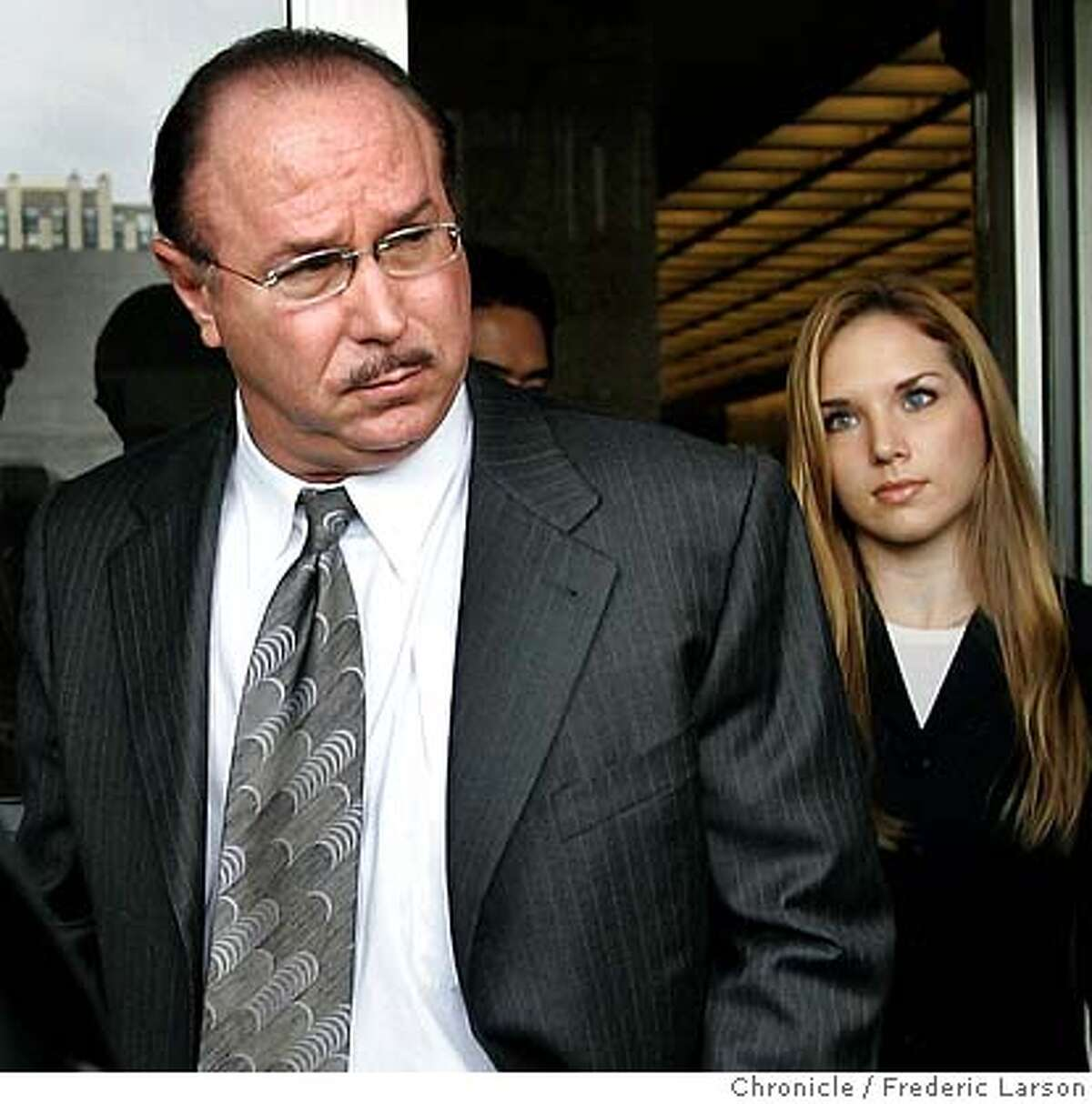 BALCO_0016a_fl.jpg Victor Conte left with his daughter Veronica Ekhardt and his attorneys from the San Francisco Federal Court house after being sentenced to eight months Tuesday as part of a plea deal for his role as mastermind behind a scheme to provide professional athletes with undetectable performance-enhancing drugs. Conte, who will spend four months in prison and four months in home confinement, started the Bay Area Laboratory Co-Operative, which, according to court records, counted dozens of prominent athletes among its clients, including Barry Bonds, Jason Giambi, Marion Jones and others. The case prompted pro sports to stiffen steroid policies and thrust performance-enhancing drugs into the spotlight. THG, a once-unknown steroid discovered in the investigation, is now banned throughout sports. Conte pleaded guilty in July to money laundering and a steroid distribution charge; dozens of counts were dropped. 10/18/05 San Francisco CA Frederic Larson The San Francisco Chronicle Ran on: 10-19-2005 Victor Conte(left,) founder of Burlingames BALCO lab, leaves the San Francisco federal courthouse with his daughter Veronica Ekhardt after being sentenced. Ran on: 10-19-2005 BALCO founder Victor Conte leaves San Franciscos federal courthouse with his daughter Veronica Ekhardt after being sentenced to four months in prison and four months home confinement. Ran on: 10-19-2005 BALCO founder Victor Conte leaves San Franciscos federal courthouse with his daughter Veronica Ekhardt after being sentenced to four months in prison and four months home confinement.Ran on: 02-07-2006 Victor Conte Ran on: 06-23-2006 Victor Conte exchanged e-mails with a Chronicle reporter about secret grand jury proceedings, a court filing says. Ran on: 06-23-2006 Victor Conte exchanged e-mails with a...