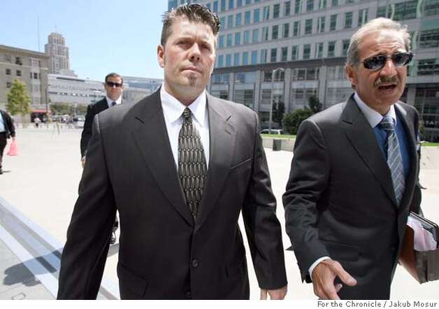 Balco_04_JMM.JPG  Greg Anderson walks with attorney Mark Geragos to the federal building in San Francisco. Anderson, who is Barry Bonds' trainer, was held in contempt of court and jailed for refusing to testify before a grand jury. Event on 8/28/06 in San Francisco. JAKUB MOSUR / The Chronicle  Ran on: 11-17-2006  Greg Anderson (left), with lawyer Mark Geragos, has refused to testify to a grand jury probing his star client for lying about steroids.  Ran on: 11-17-2006  Greg Anderson (left), with lawyer Mark Geragos, has refused to testify to a grand jury probing his star client for lying about steroids.  Ran on: 11-17-2006  Greg Anderson (left), with lawyer Mark Geragos, has refused to testify to a grand jury probing his star client for lying about steroids.  Ran on: 11-17-2006  Greg Anderson (left), with lawyer Mark Geragos, has refused to testify to a grand jury probing his star client for lying about steroids. Photo: JAKUB MOSUR