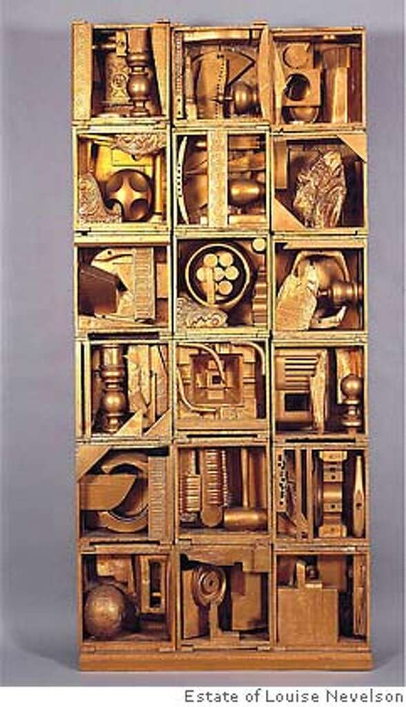 Connu Review: Louise Nevelson's found at the de Young - SFGate YQ49