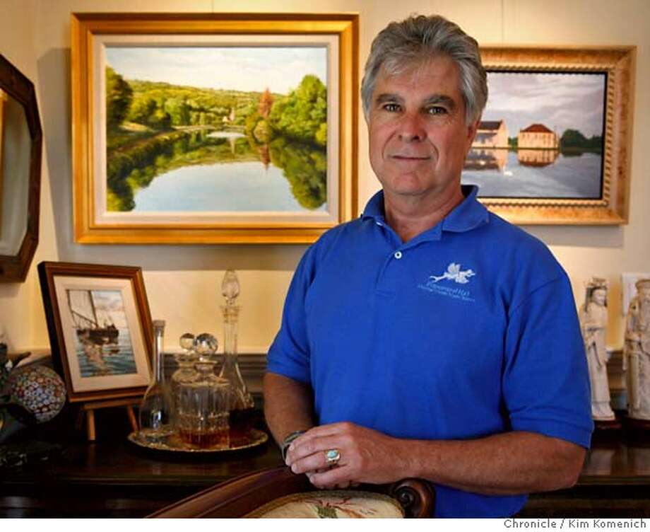 PENDER28_025_KK.JPG  Cris Hammond (cq) of Sausalito owns a barge in France that he uses to travel the country's canal system. He has hung paintings he's done of his Franch barge in his Sausalito home.  Photo by Kim Komenich/The Chronicle  **Cris Hammond MANDATORY CREDIT FOR PHOTOG AND SAN FRANCISCO CHRONICLE. NO SALES- MAGS OUT. Photo: Kim Komenich