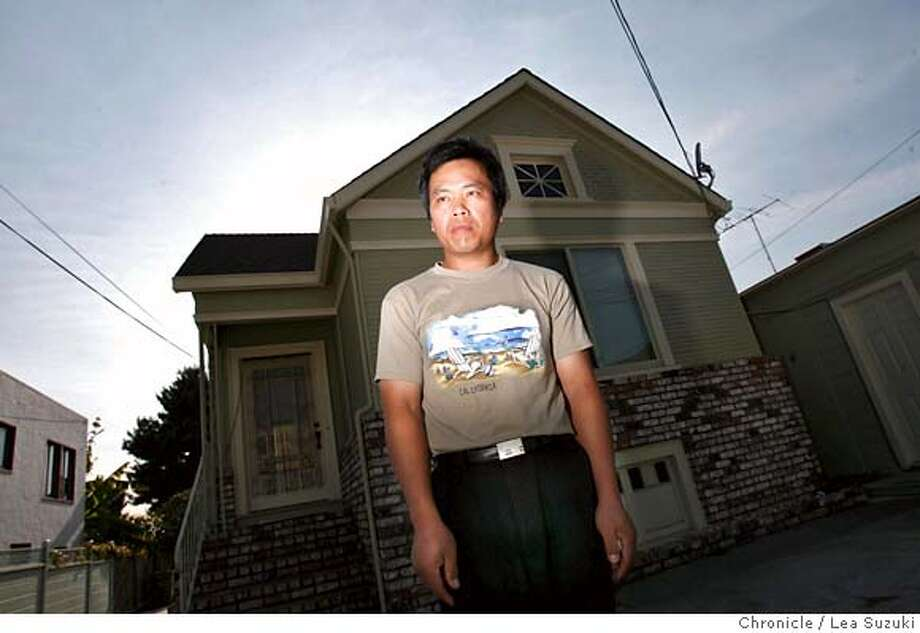 lin_foreclosexx_046_ls.jpg  Hong Zhang Lin and his home on Brookdale. Siblings, Hong Zhang Lin and Mia Lum at the home they and two other brothers brought in the early 1990's. Hong Zhang Lin has Parkinson's disease, needs to take alot of medication because of it, he lives alone and has recently received a 3 day notice to vacate his home. Lender Countrywide foreclosed on the home because the home-equity loans had not been paid, and sold it to an investor at auction, without the family's knowledge. Lea Suzuki / The Chronicle Photo taken on 10/24/07 in Oakland, CA, USA. �2007, San Francisco Chronicle  MANDATORY CREDIT FOR PHOTOG AND SAN FRANCISCO CHRONICLE/NO SALES-MAGS OUT Photo: Lea Suzuki