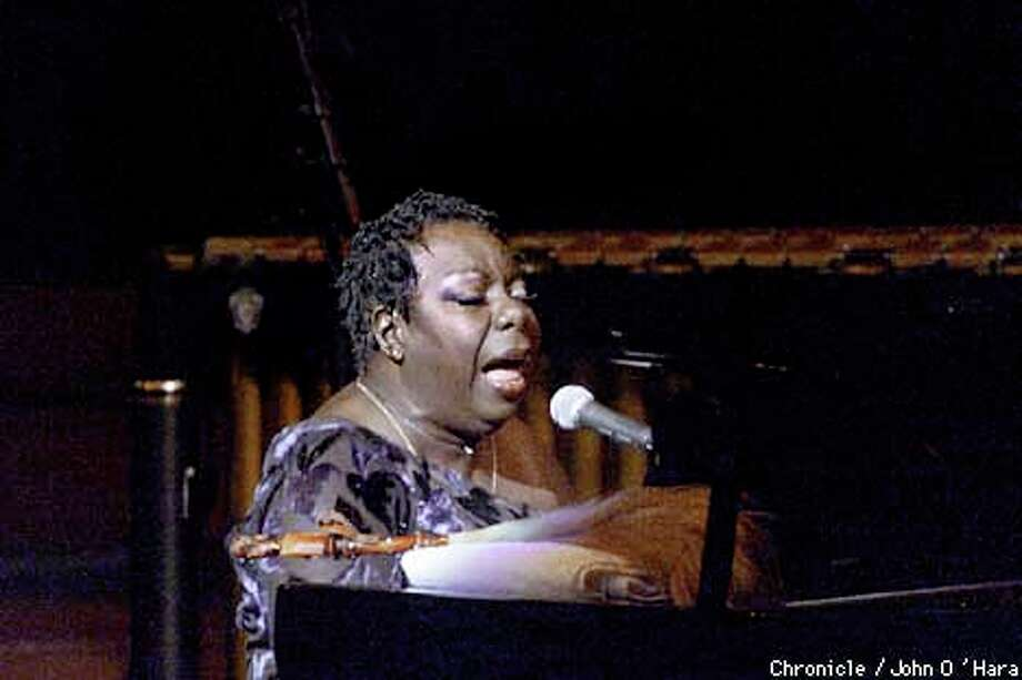 Nina Simone sang for her adoring fans in San Francisco for the first time in years. Chronicle photo by John O'Hara