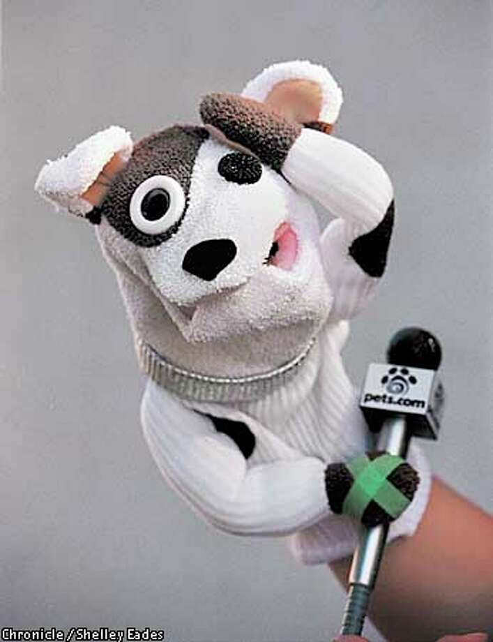 The Pets.com sock puppet. Chronicle photo by Shelly Eades