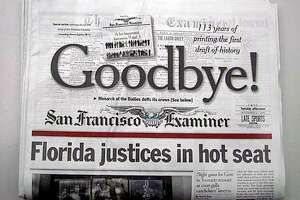 The final edition of the Hearst-owned San Francisco Examiner, published on Tuesday, November 21, 2000. Chronicle photo by Scott Sommerdorf