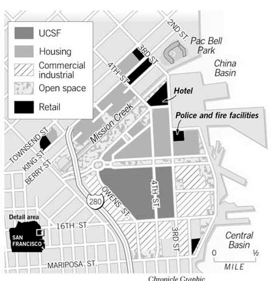 Mission Bay Developments. Chronicle Graphic