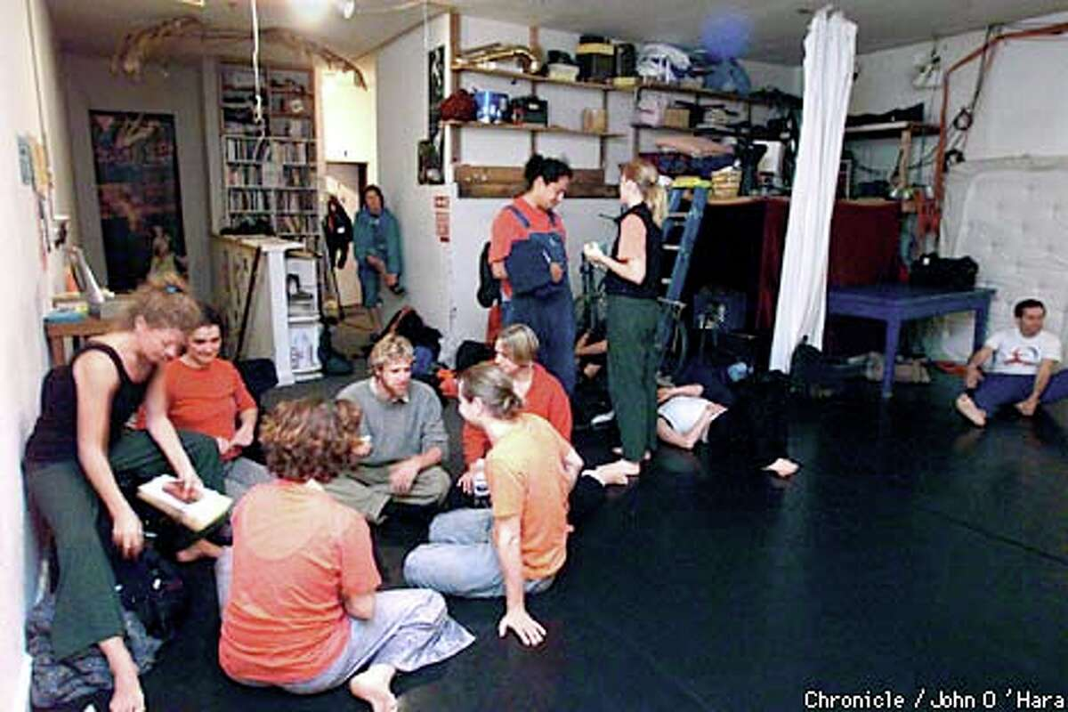 At 848 Community Space , a building rented by several arts groups, participants gathered for a weekly dance on a recent Tuesday night. The building has been sold, and the groups are in danger of losing the space. Chronicle photo by John O'Hara