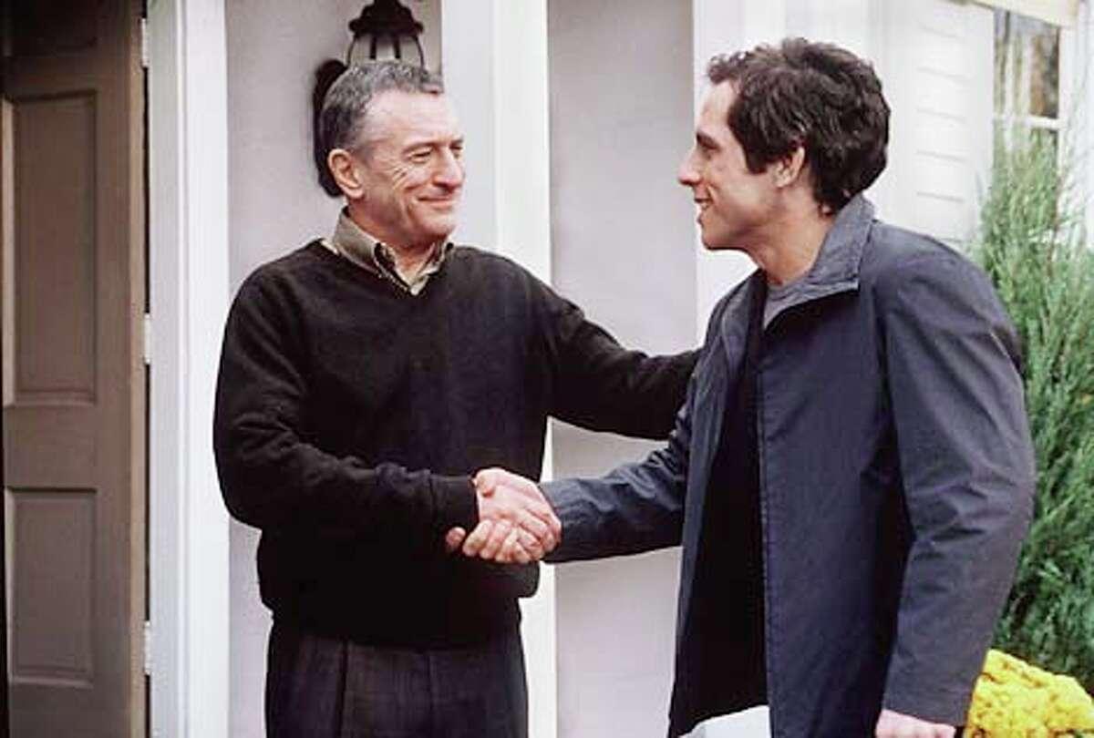 Robert De Niro welcomes his daughter's boyfriend (Ben Stiller) in