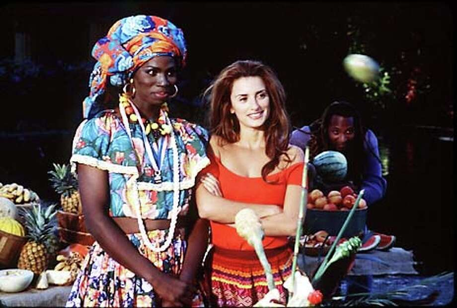 "Penelope Cruz (right) stars as Brazilian chef Isabella and Harold Perrineau Jr. is her transvestite friend Monica in Fina Torres'  ""Woman on Top,'' a fairy tale about love and cooking."