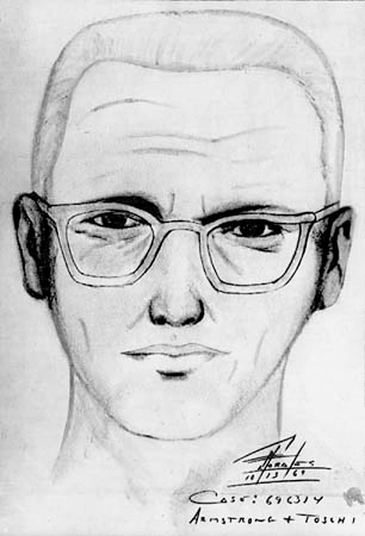 A police sketch of the man suspected of being the northern California