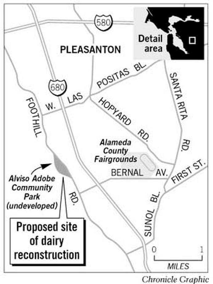 Proposed Site of Dairy Reconstruction. Chronicle Graphic