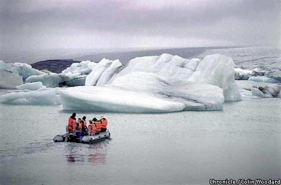 Tourists visited the Jokulsarlon, a glacier-fed lagoon in southwestern Iceland. Photo by Colin Woodard, special to the Chronicle