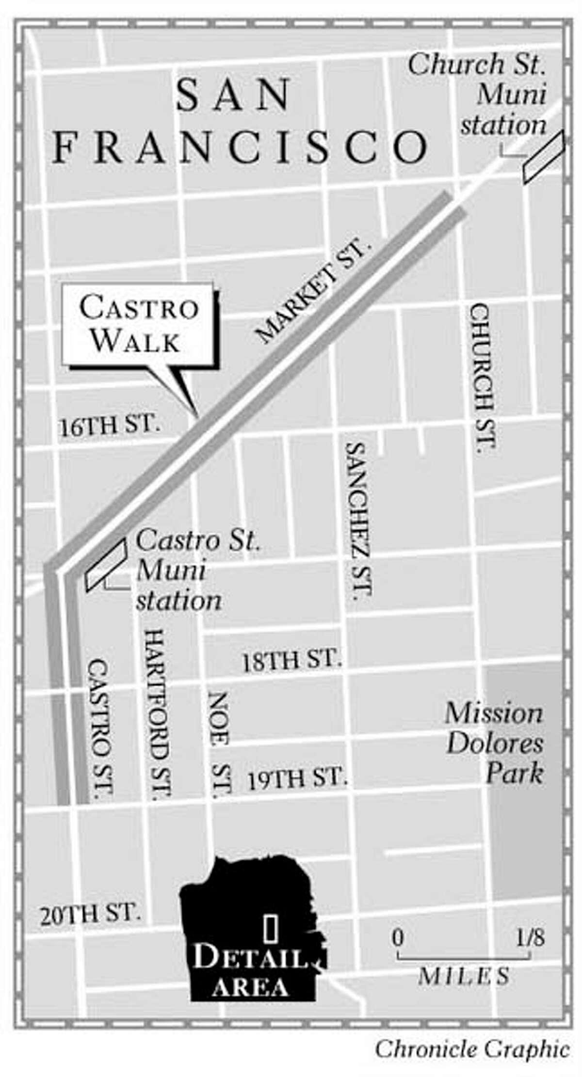 Castro Walk. Chronicle Graphic