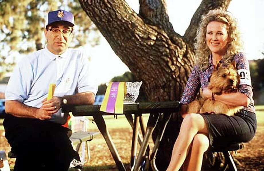 "Eugene Levy and Catherine O'Hara play owners of a Norwich terrier entered in a dog show in the mockumentary ""Best in Show.''"