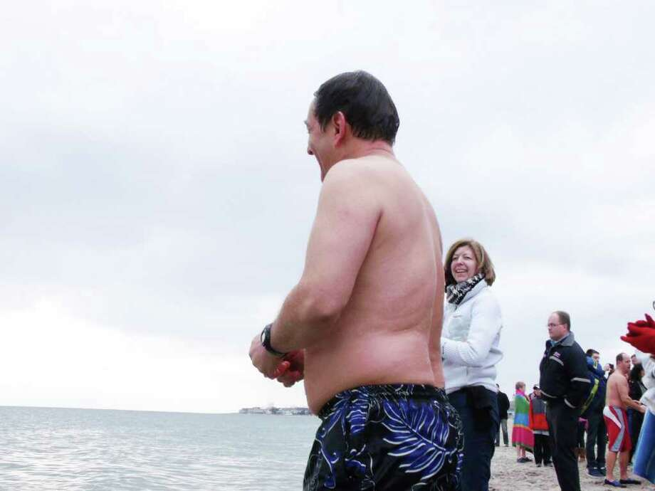 Were you SEEN at the Jenning's Beach Plunge on Saturday? Photo: Todd Tracy / Connecticut Post