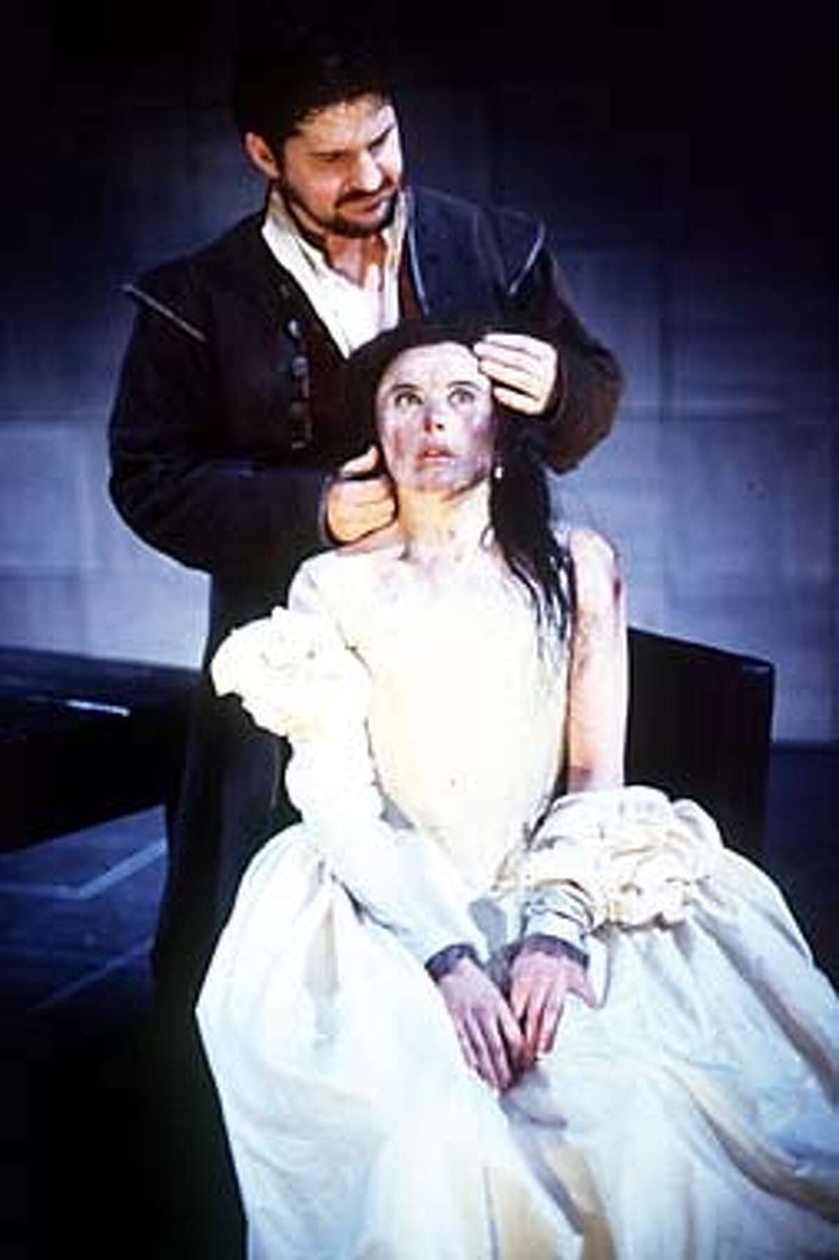 Stuart McQuarrie and Monica Dolan star in the Royal Shakespeare Company's hard-edged touring production of ``The Taming of the Shrew,'' one of three versions of the Shakespeare play that can be seen this summer. Courtesy Photo