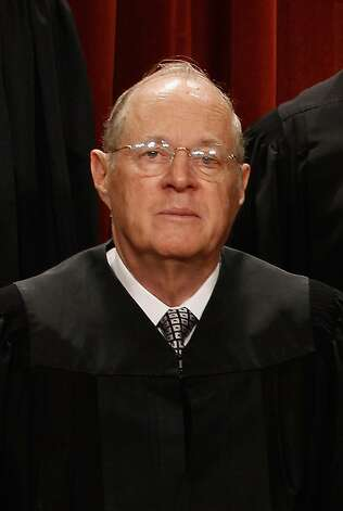 U.S. Supreme Court Associate Justice Anthony Kennedy poses for photographs in the East Conference Room at the Supreme Court building October 8, 2010 in Washington, DC. This is the first time in history that three women are simultaneously serving on the court. Photo: Chip Somodevilla, Getty Images