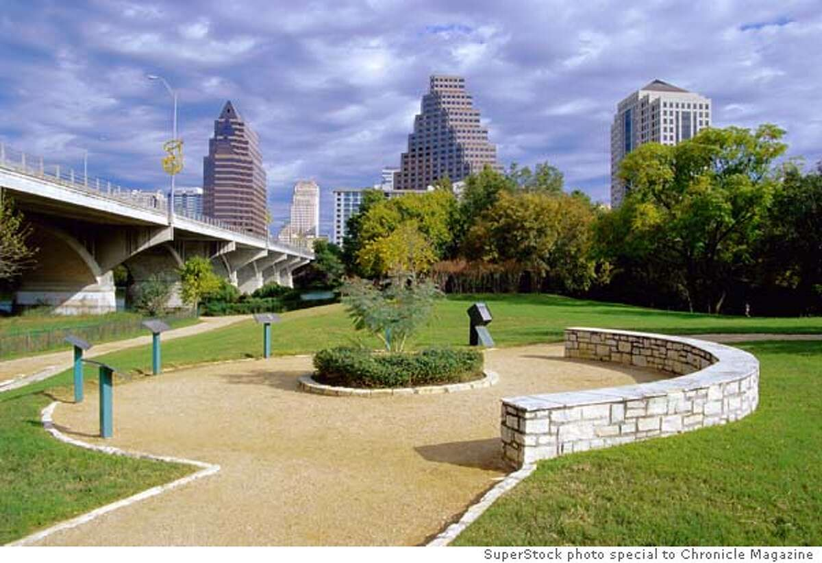 The Congress Avenue Bridge, where Mexican free-tailed bats congregate. Superstock photo, special to Chronicle Magazine