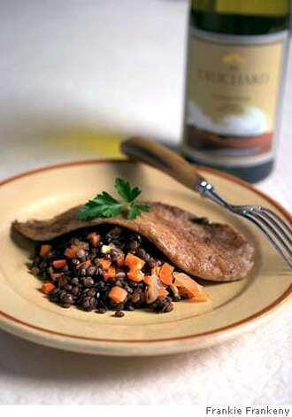 Fish & Lentils. Photo by Frankie Frankeny / styling by C. Gleaver