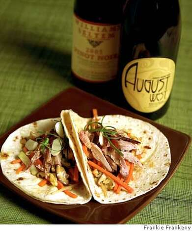 Mu Shu Roast Duck & Vegetable Tacos. Photo by Frankie Frankeny / styling by C. Gleaver