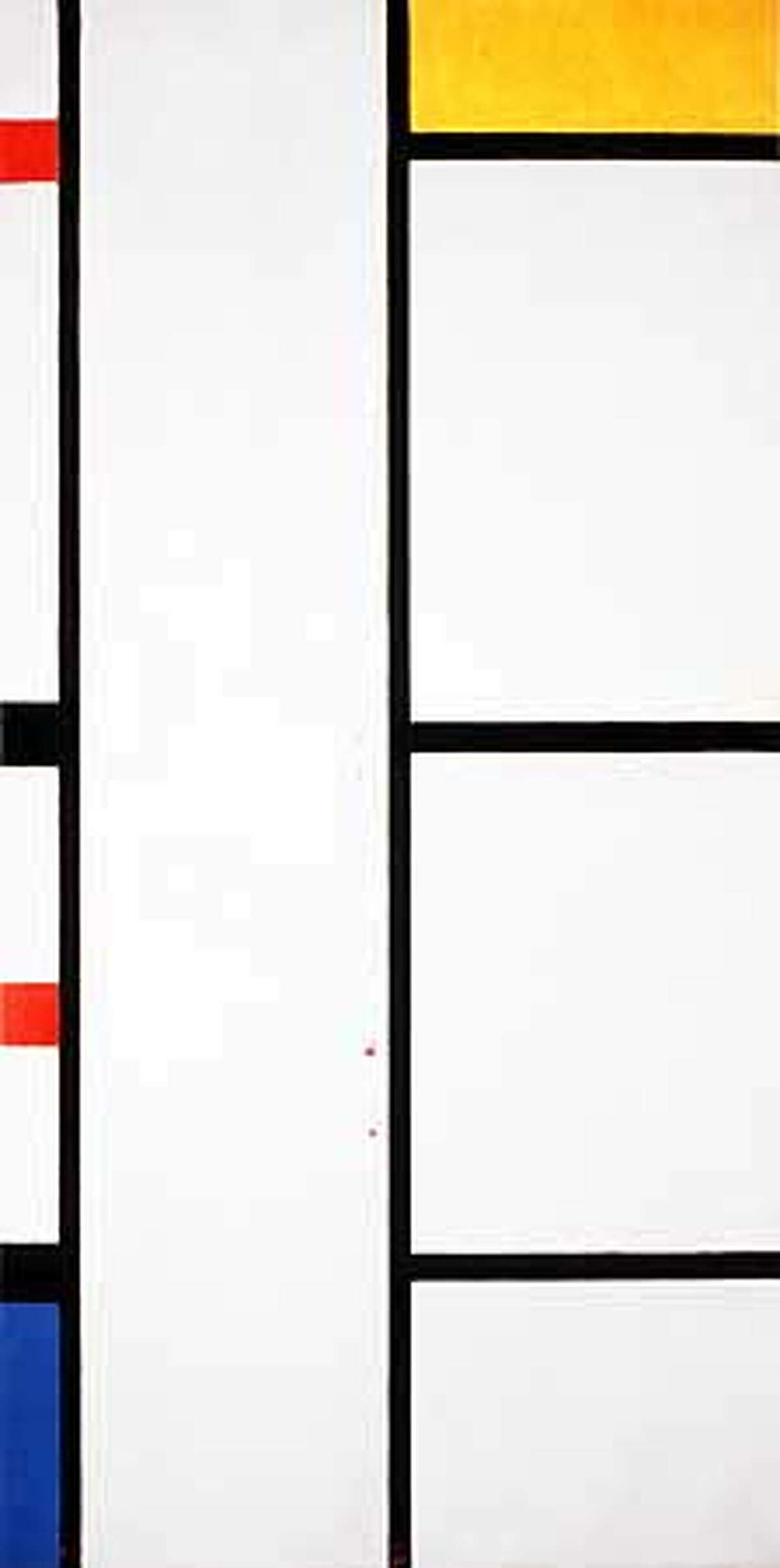 """Piet Mondrian's painting """"""""Composition With Red, Yellow and Blue'' (1935-1942), on display at San Francisco Museum of Modern Art, sparked discussion"""