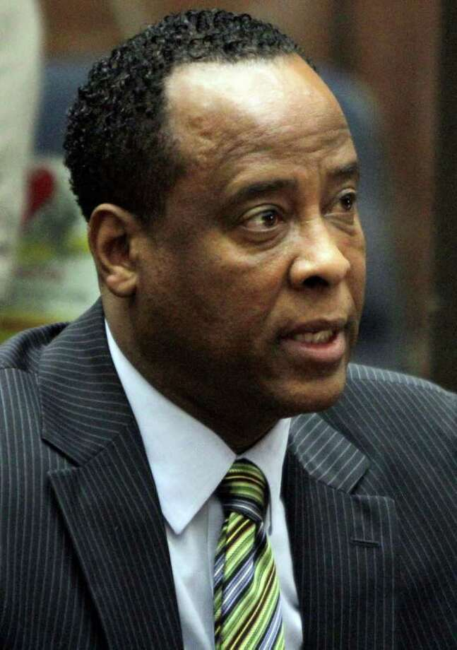 FILE - In this Jan. 25, 2011 file photo, Dr. Conrad Murray, singer Michael Jacksonís personal physician, appears in Los Angeles Superior Court where Murray pleaded not guilty to a charge of involuntary manslaughter in the pop starís 2009  death. Prospective jurors for the trial of Michael Jackson's doctor received printed questionnaires Thursday March 24, 2011, to fill out and specify whether they can serve in the lengthy involuntary manslaughter trial.   (AP Photo/Irfan Khan, File) Photo: Irfan Khan / Pool Los Angeles Times
