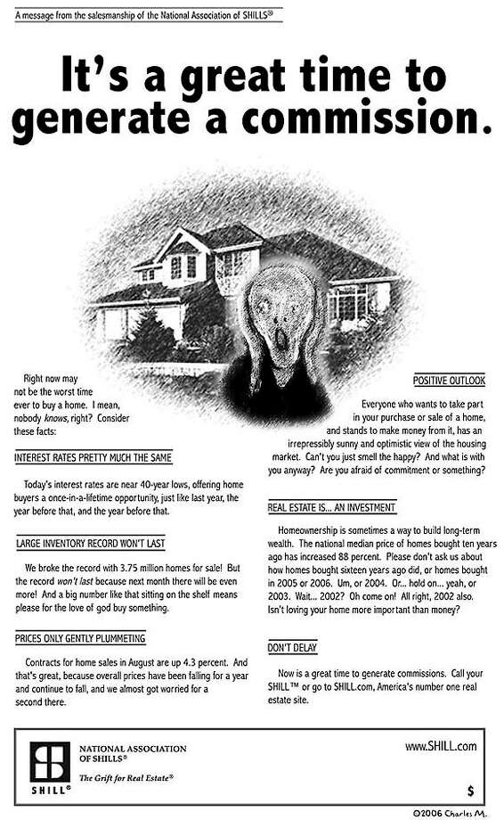 This parody real estate advertisement first appeared  on the Boston Globe real estate message board and has been widely republished.