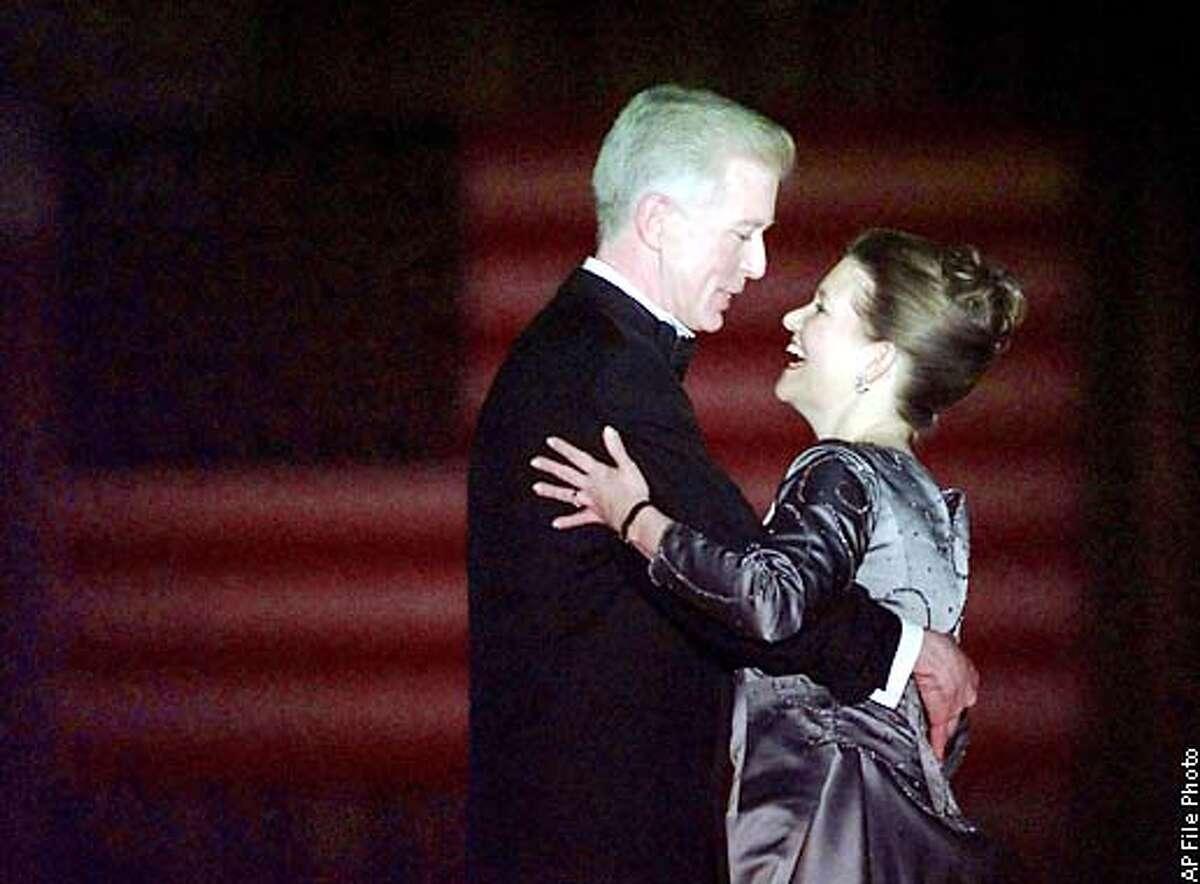 California Gov. Gray Davis dances with his wife Sharon during the Inaugural Ball at Cal Expo Monday, Jan. 4, 1999 in Sacramento, Calif. (AP Photo/Kevork Djansezian)