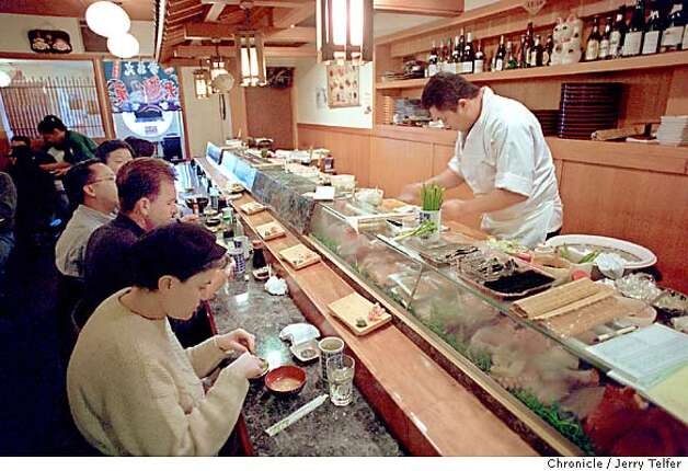Patrons at the sushi bar of Ebisu restaurant. 1283 9th Avenue  BY JERRY TELFER/THE CHRONICLE Photo: JERRY TELFER