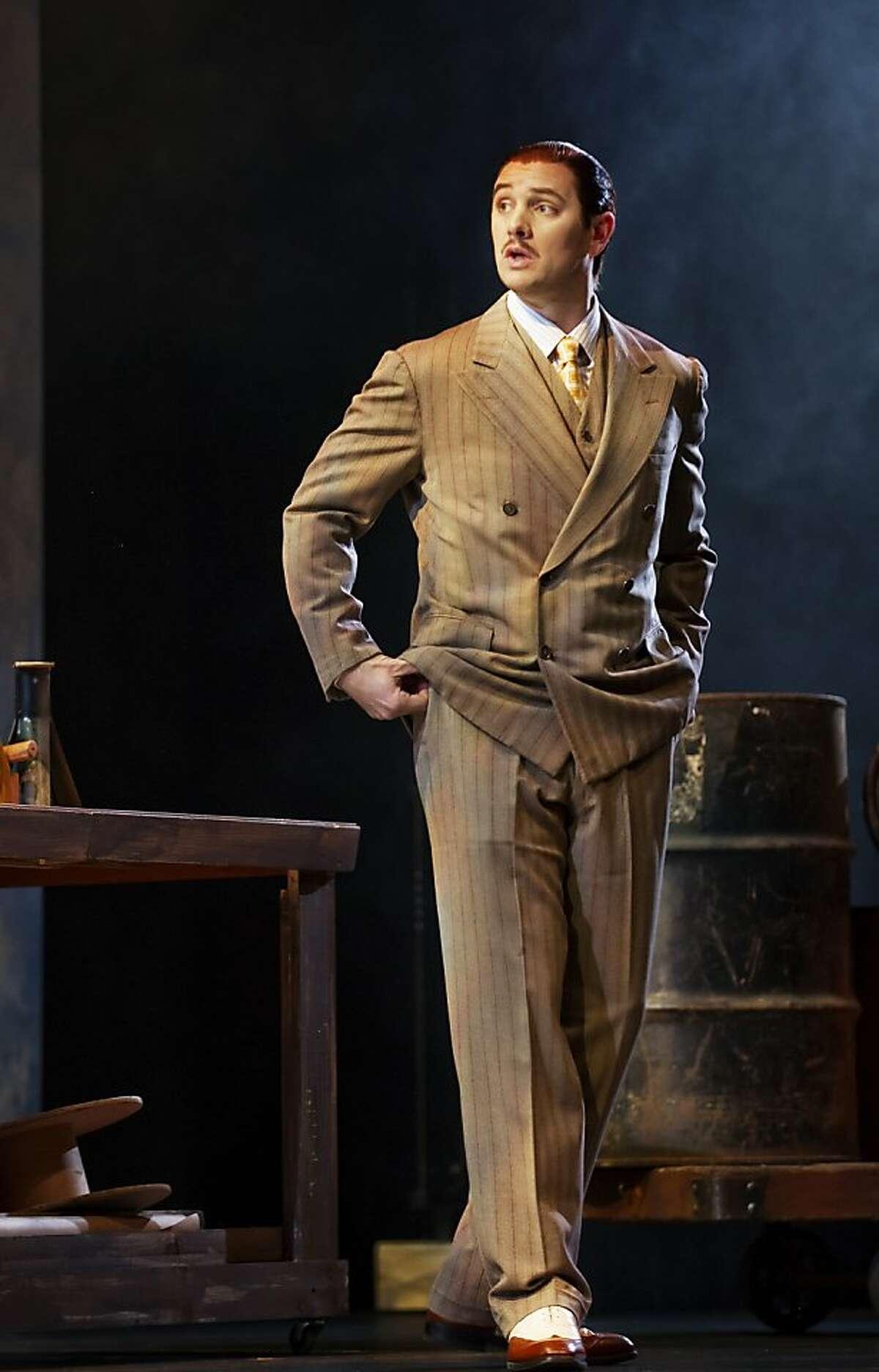 Jason Detwiler as Nick Carraway in John Harbison's opera