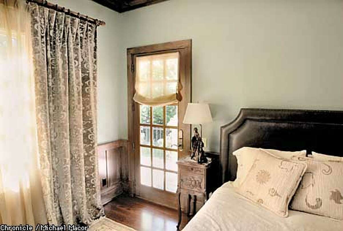 Local Color Consultant Colleen Keller worked on this bedroom for a client. Hand Printed Velvet Curtain and Donghia Sheer along with a custom color on the walls that she created. Color Consultants and what they do. by Michael Macor/The Chronicle