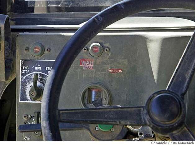 Detail of humvee dashboard.  U. S. Army Col. Anne Mancino, a physician and her escort soldiers from the 2-7 Infantry Battalion of the 1st Brigade, 3rd Infantry Division (in Tikrit, Iraq) travel to the home of Sheikh Hussein Al Boyesa in Mukshifa (about 15 miles south of Tikrit) where Mancino examines members of the sheikh's tribe. San Francisco Chronicle photo by Kim Komenich Photo: Kim Komenich