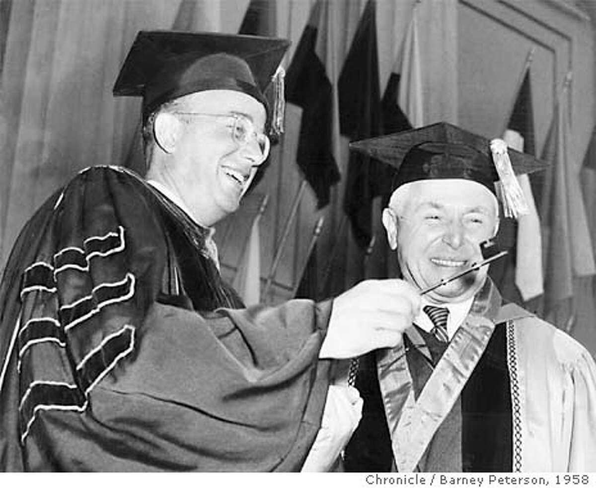 Clark Kerr and Regent Chairman Donald McLaughlin.