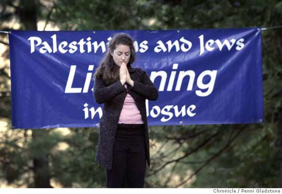 Hime Russ is Israeli, and lives in Vancouver Canada.  In the quite of the early morning she meditates while doing yoga at the Peacemakers program at camp tawonga Event on 9/2/06 in Twonga.  Penni Gladstone / The Chronicle MANDATORY CREDIT FOR PHOTOG AND SF CHRONICLE/ -MAGS OUT Photo: Penni Gladstone