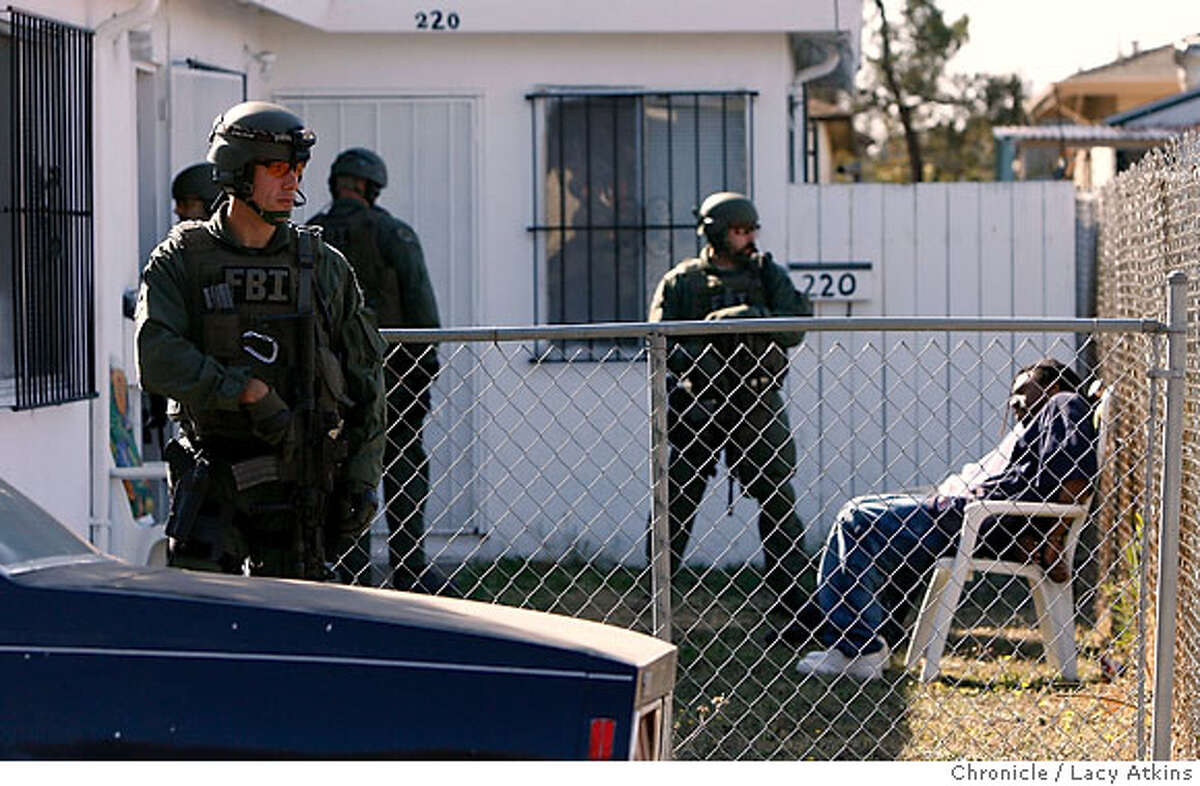 Contra Costa County Sheriffs and the FBI serviced sixteen search warrants and arrested approximately nine on state and federal warrants for drugs and gangs while conducted a raid in North Richmond, Ca., Wednesday Oct. 25, 2006. (Lacy Atkins/The Chronicle)
